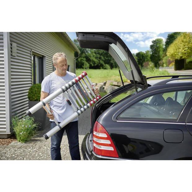 Hailo Flexline telescoopladder - aluminium - 9 sporten