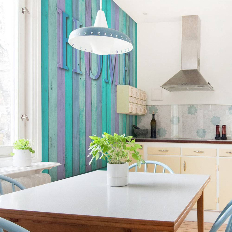 Fotobehang - house (turquoise) - 300x231