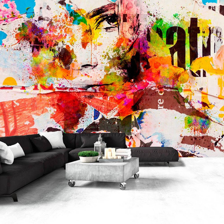 Fotobehang - City Collage, felle kleuren - 350x245