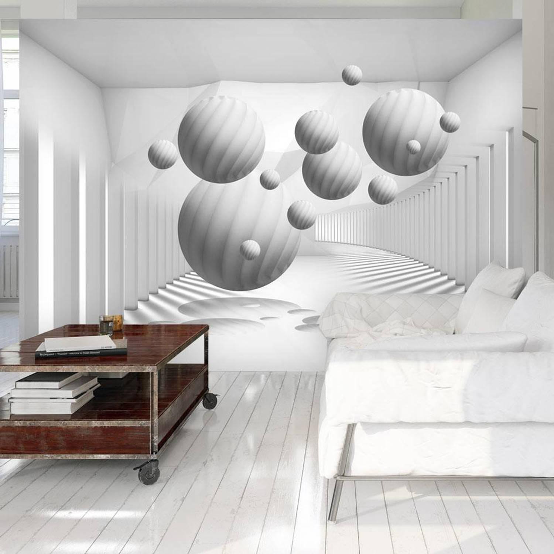 Fotobehang -Zwevende witte ballen - 300x210