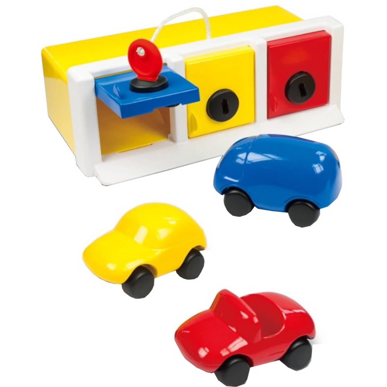 Afbeelding van Ambi Toys garagebox met auto's 4-delig