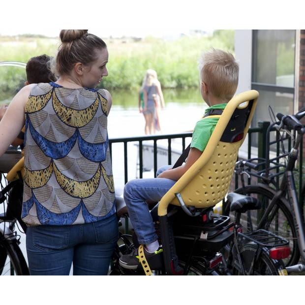 Yepp fietszitje achter Maxi wit framebuisbevestiging