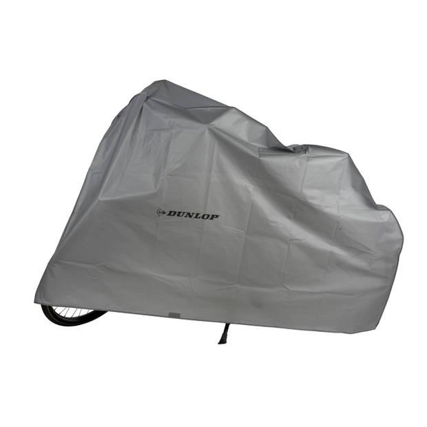 Dunlop Fietshoes - 210 x 110 cm - Beschermt tegen weer, wind, stof en vuil - Grijs