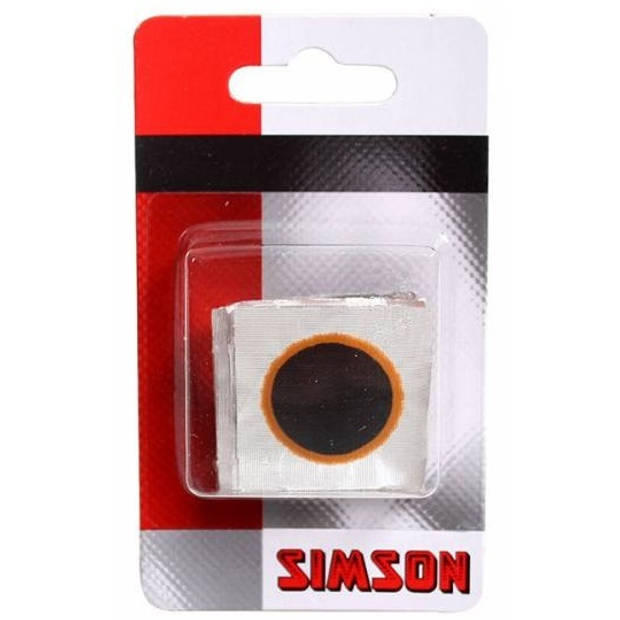 Simson ronde bandenplakkers 16 mm zwart 8 stuks
