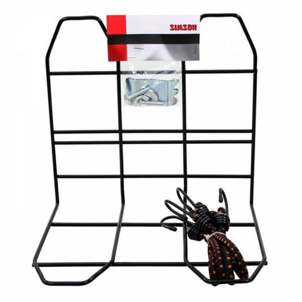 Simson bagagerekje met spinbinder zwart