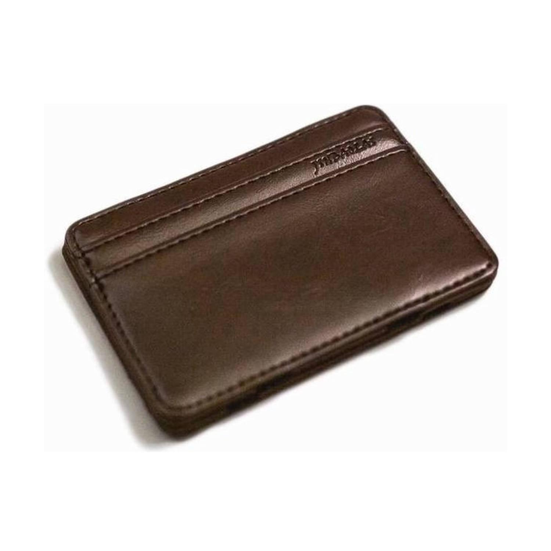 Magic Wallet Creditcard Houder PU-Leder Bruin