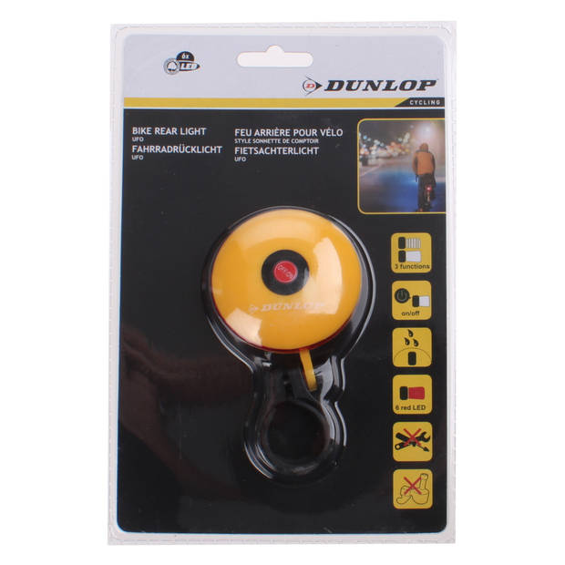 Dunlop achterlicht UFO led batterij geel