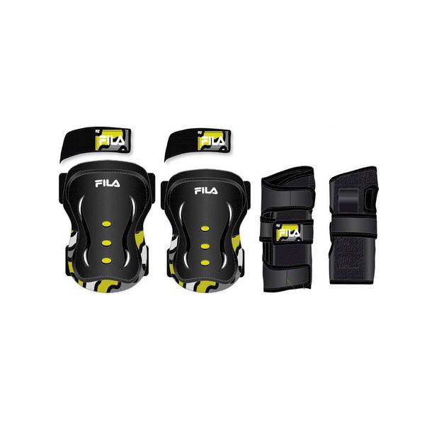 Fila beschermingsset FP skate zwart/geel maat XS