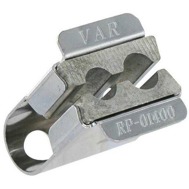 VAR Spanklem 9/10 mm zilver