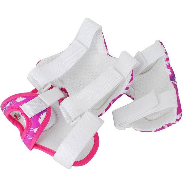 Tempish beschermset FID meisjes wit/roze maat XS