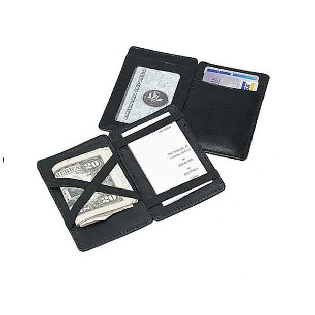 Magic Wallet Geldclip - Heren - Kunstleer - Zwart