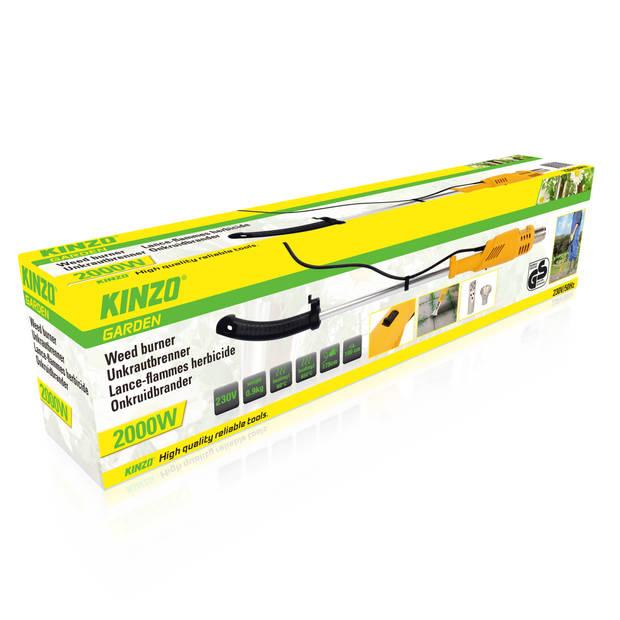 Kinzo Garden onkruidbrander - barbecueaansteker - verfafbrander - 2 branderkoppen - 2000W