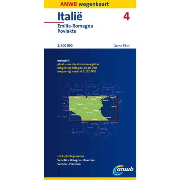 Italië 4 - ANWB wegenkaart