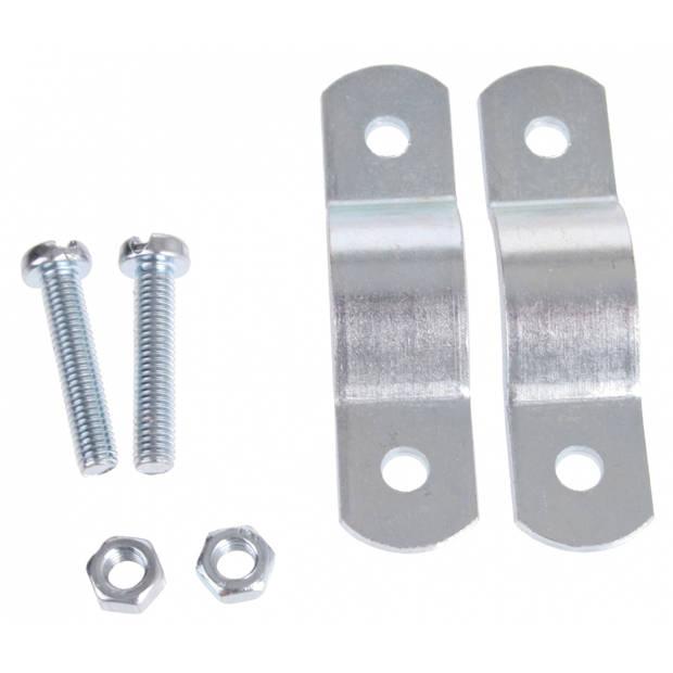 Steco Voordrager-montuur 63.5 mm zilver