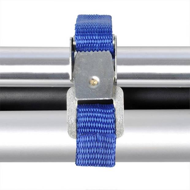 ProPlus fietsriempjes met metalen gesp 40 cm blauw 4 stuks