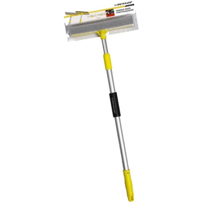 Dunlop raamtrekker met telescopische steel 70 - 110 cm geel