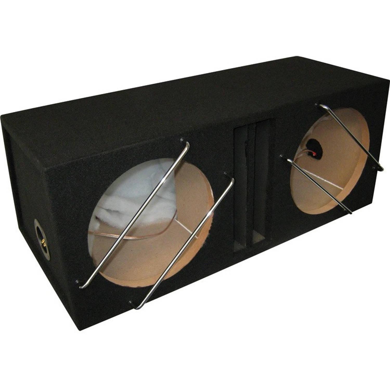 Necom subwooferkist 2 x 12'' met 1 aansluiting 84 liter MDF zwart