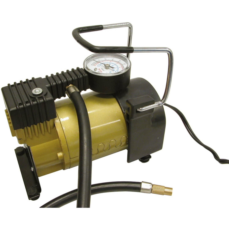Korting Carpoint Luchtcompressor 12 Volt 7 Bar Zwart goud