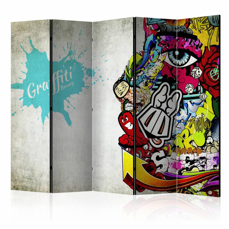 Vouwscherm - Graffiti Beauty 225x172cm