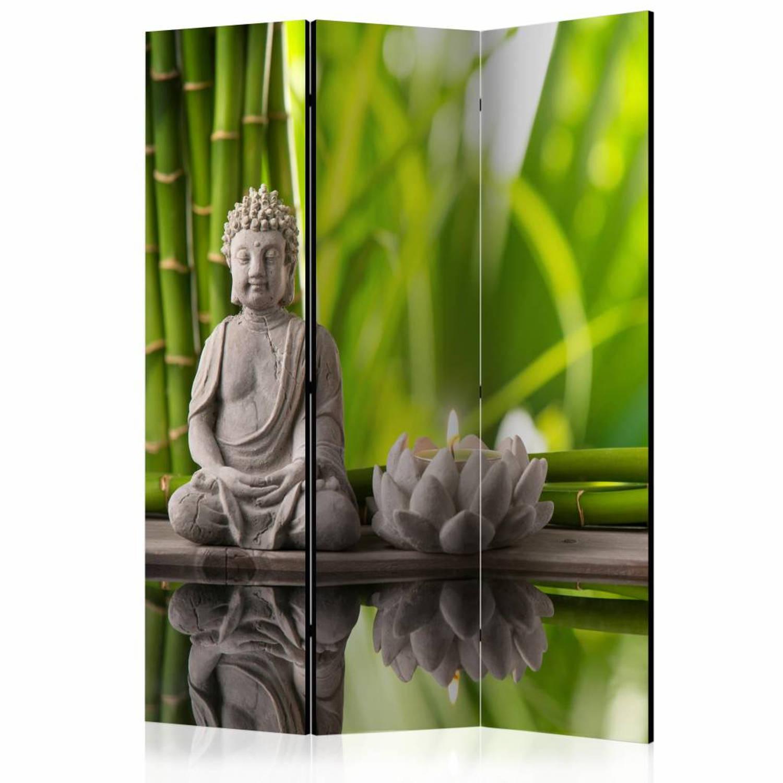Vouwscherm - Boeddha, Meditatie 135x172cm