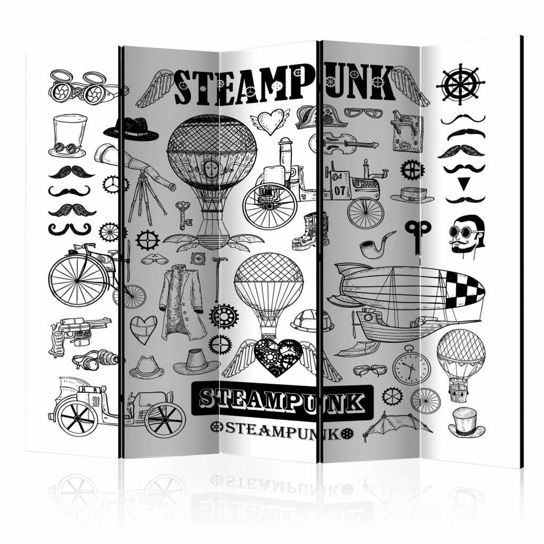 Vouwscherm - Steampunk 225x172cm