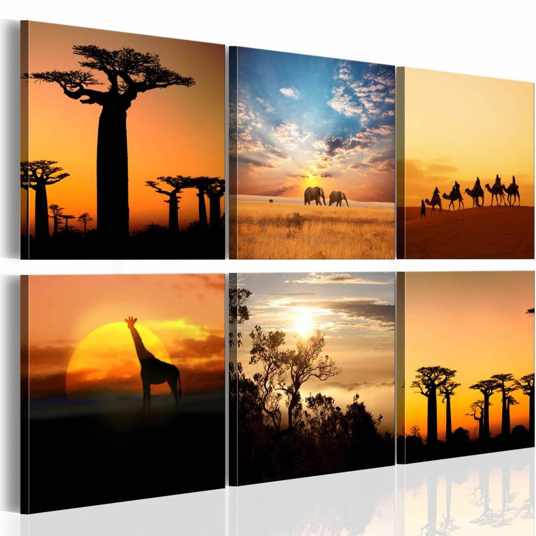 Schilderij - African sceneries - 60x40