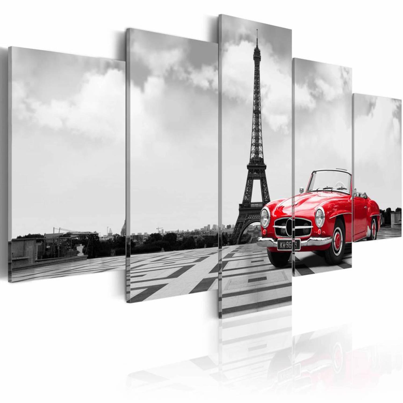 Schilderij - Parisian car - 100x50