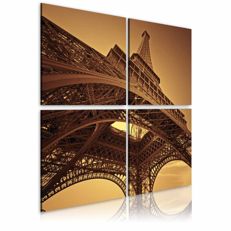 Schilderij - Eiffeltoren - Parijs - 80x80