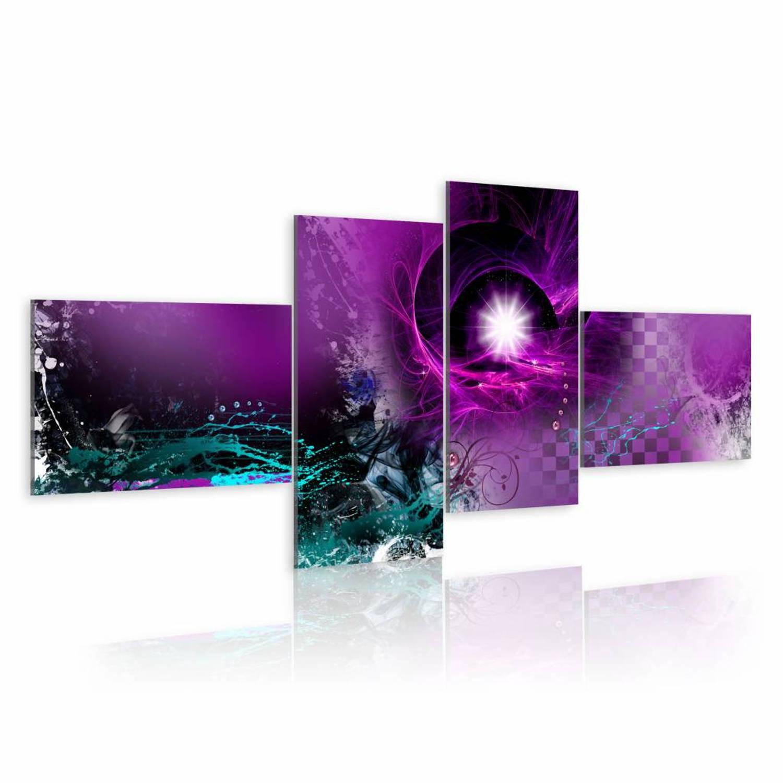 Schilderij - Shiny violet - 200x90