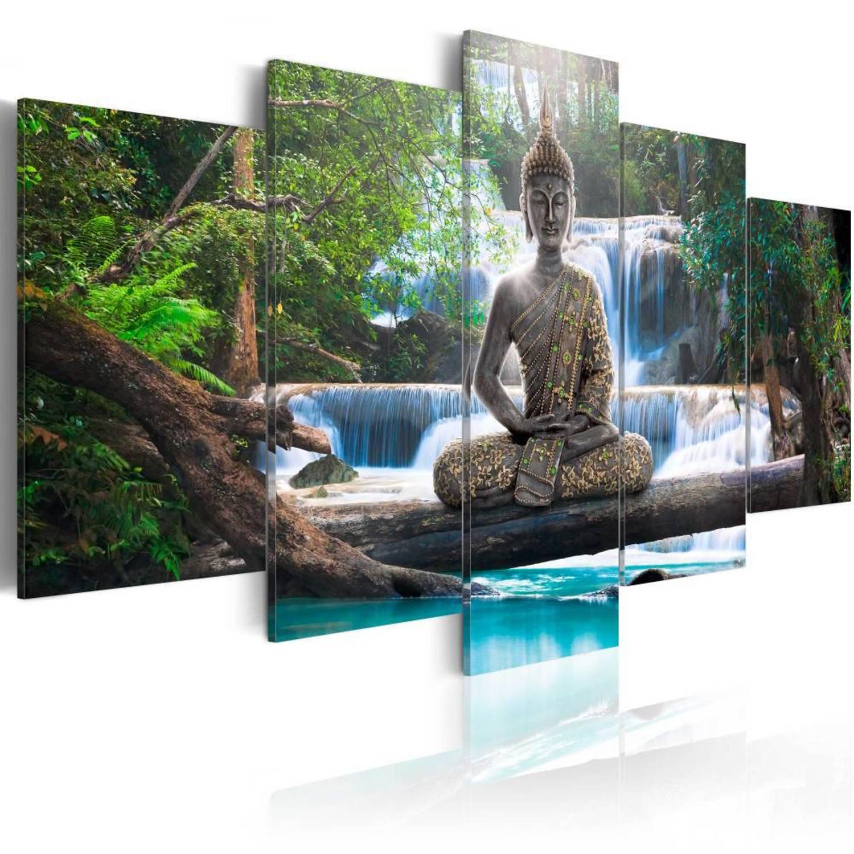 Canvas Boeddha (5 delig)