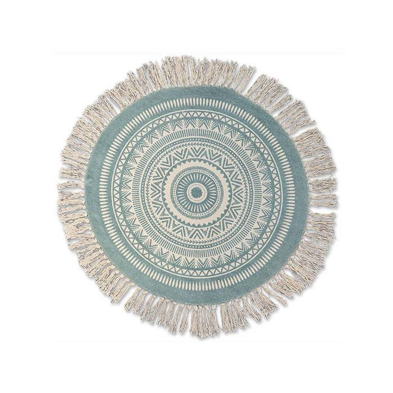Unique Living Floormat Maya - Mineraal Blauw