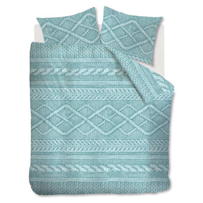 Afbeelding van At Home Flanel dekbedovertrek Wools - Zeegroen - 2-Persoons 200x200/220 cm