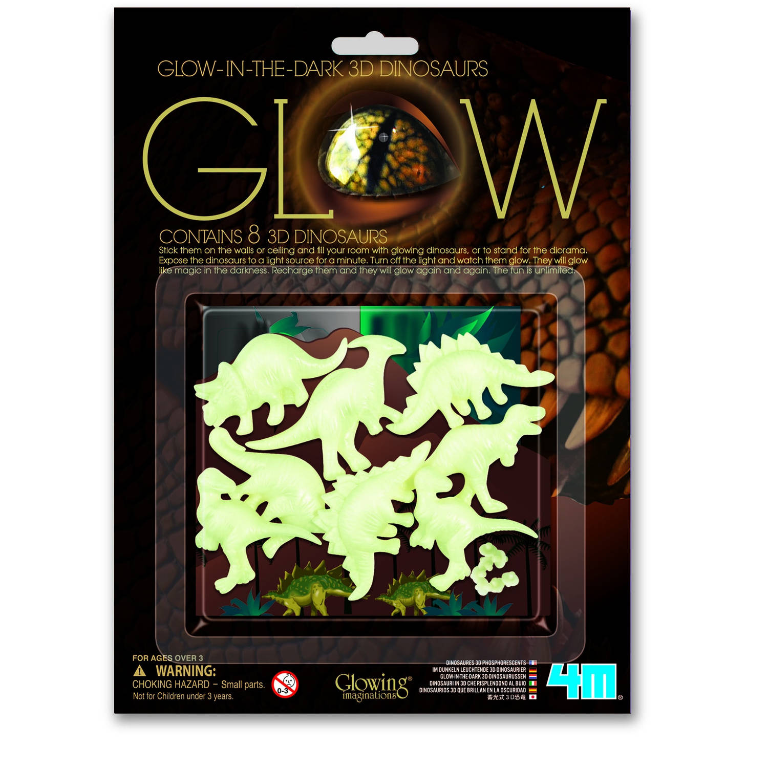 4M Glow in The Dark Pack: 3D Dinosaurus