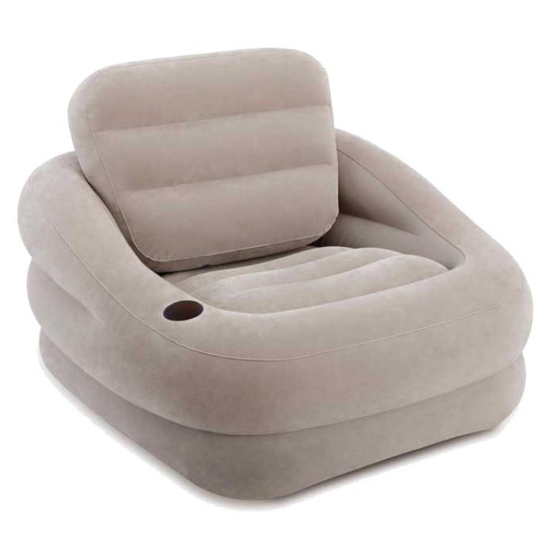 Intex opblaasbare stoel grijs 107 x 97 x 71 cm