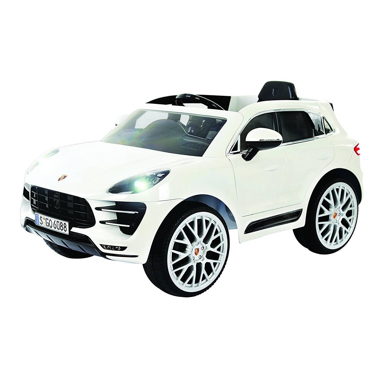 Rollplay Porsche Macan Turbo accuvoertuig 6 Volt wit