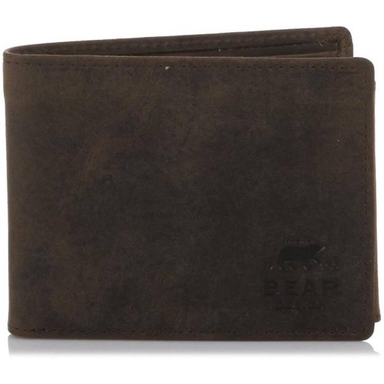 Bear Design Portemonnee.Bear Design Heren Billfold Portemonnee Bruin