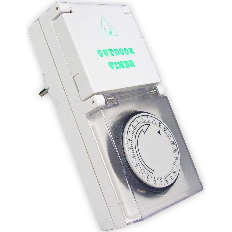 Calex waterdichte IP44 wandcontactdoos timer 24H (blister)