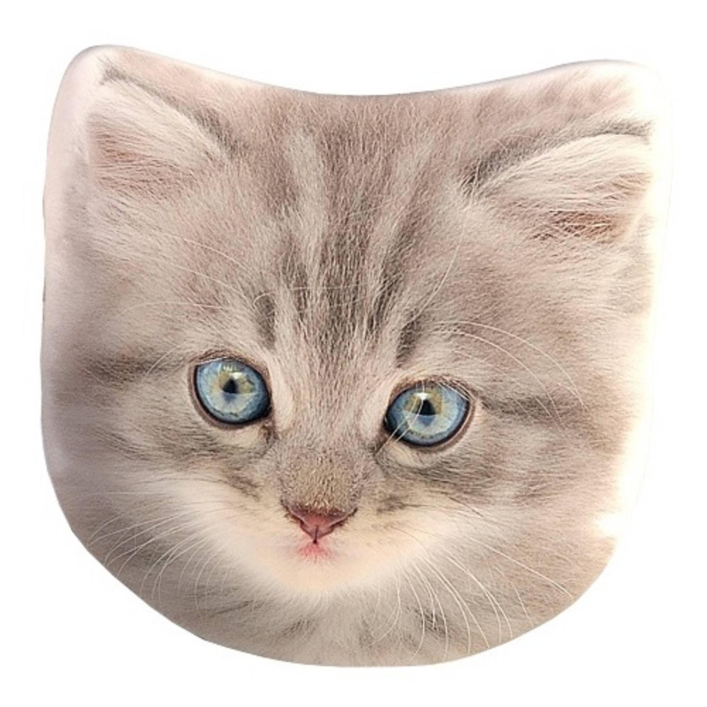 Carbotex kussen kat grijs 40 cm