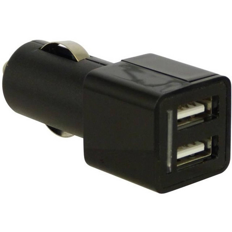 Carpoint autolader USB dubbel 12/24 Volt 5A zwart
