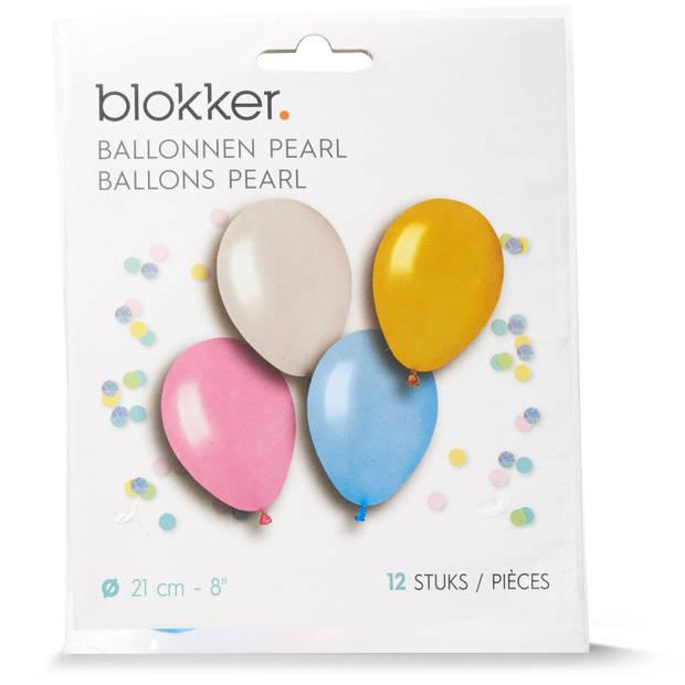 Blokker pearl ballonnen 12 stuks