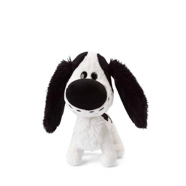 Woezel & Pip knuffel Charlie - 16 cm - zwart/wit