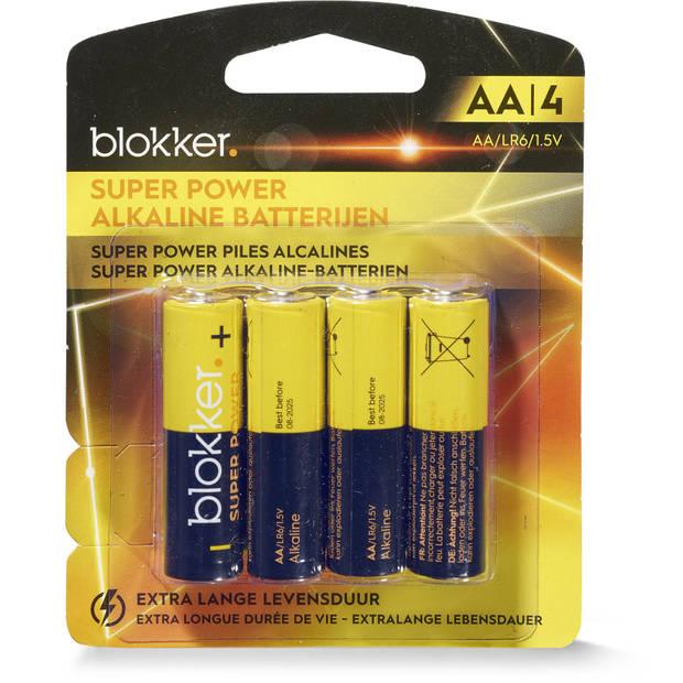 Alkaline Batterijen Aa 4 Stuks