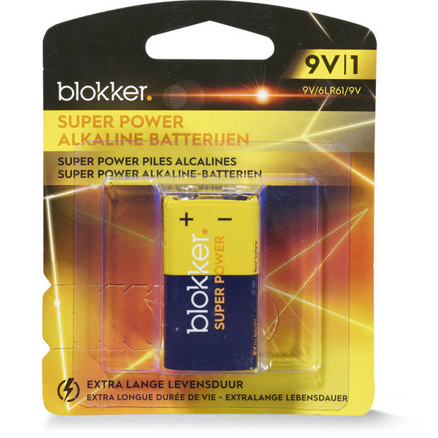 Alkaline Batterij 9v