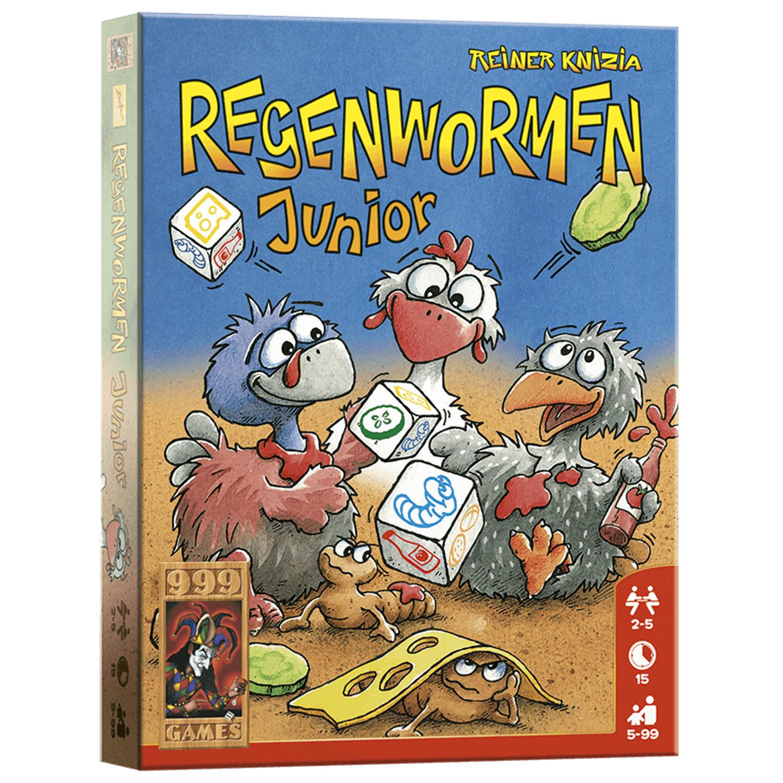 Afbeelding van 999 Games - Regenwormen Junior - Dobbelspel