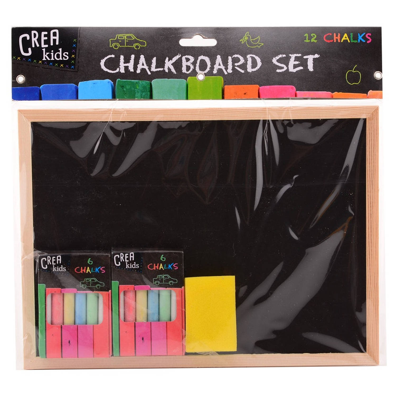 Johntoy krijtbord Crea Kids 29 x 21 cm zwart