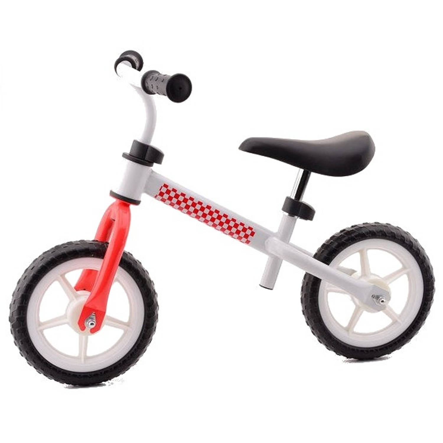 Johntoy My first bike 12 Inch Junior Wit/Rood