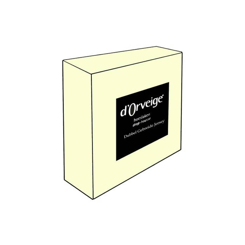 D'Orveige hoeslakens Dubbel Jersey - 180/190x210/220 - Crème