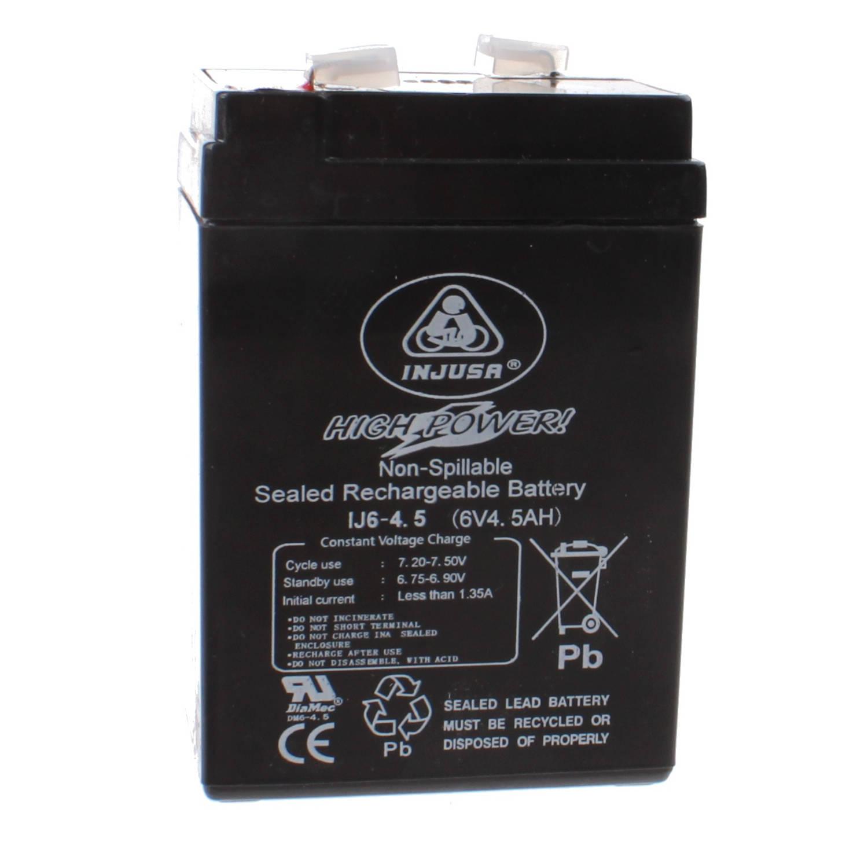 Injusa oplaadbare batterij High Power 6V-4,5 AH zwart