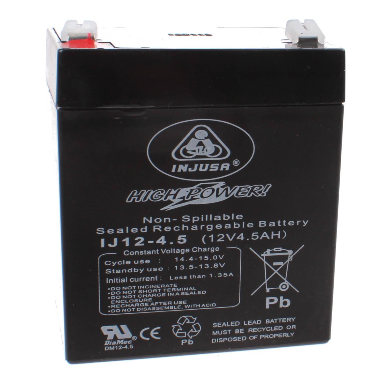 Injusa oplaadbare batterij High Power 12V-4,5 AH zwart