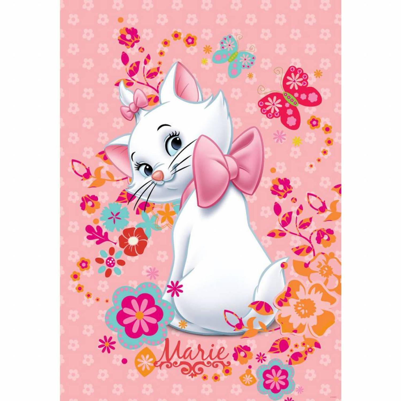 Disney Marie - Fotobehang - 2 delig - 184 x 254 cm - Roze